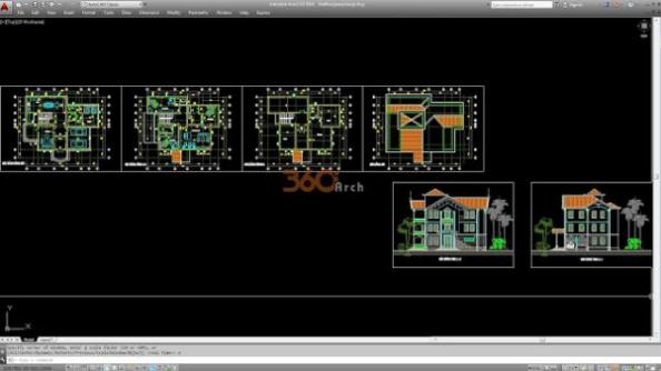 Thư viện autocad mẫu nhà phố các loại - thiết kế 5