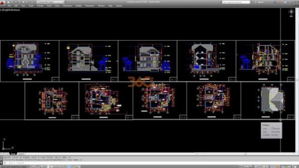 Thư viện autocad mẫu nhà phố các loại - thiết kế 6