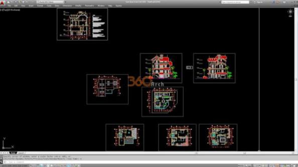 Thư viện autocad mẫu nhà phố các loại - thiết kế 7