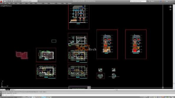 Thư viện autocad mẫu nhà phố các loại - thiết kế 8