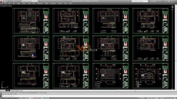 Thư viện autocad mẫu nhà phố các loại - thiết kế 11