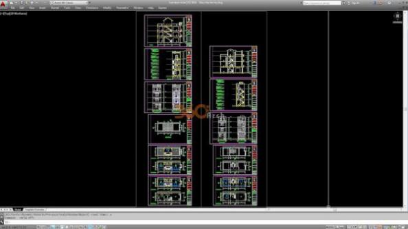 Thư viện autocad mẫu nhà phố các loại - thiết kế 14