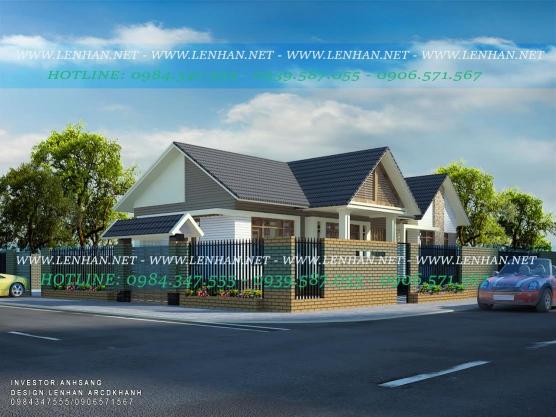 Góc 2 mặt tiền nhà cấp 4 mái ngói thái đẹp