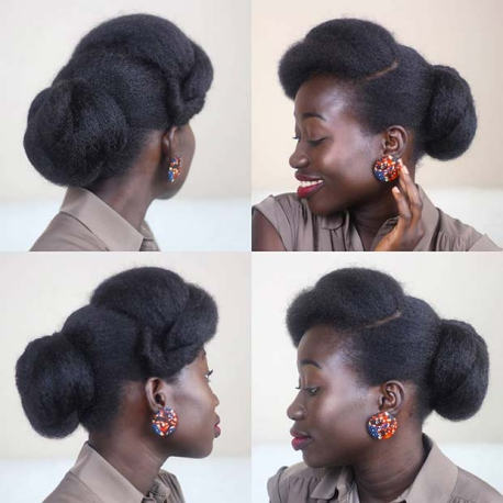 ELEGANT NATURAL UPDO Beautiful Natural Hairstyles Best