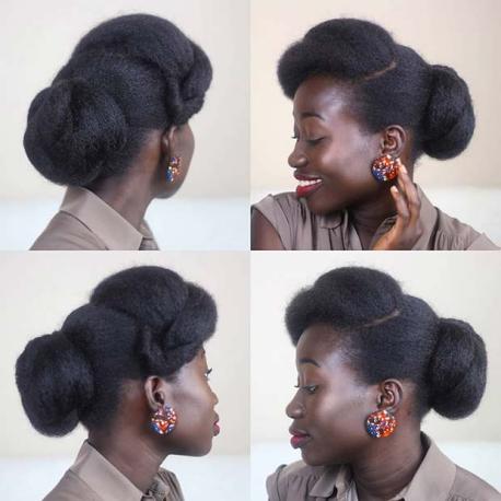 ELEGANT NATURAL UPDO Beautiful Natural Hairstyles Best