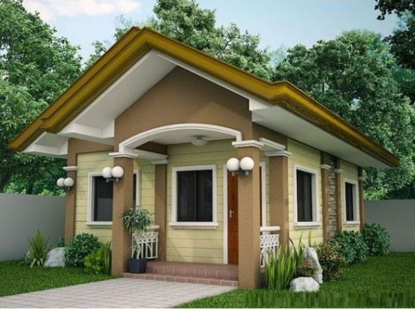 Mẫu nhà trệt 1 tầng mái thái đẹp - Hình 1