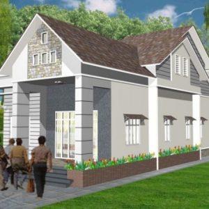 Mẫu nhà trệt 1 tầng mái thái đẹp - Hình 6