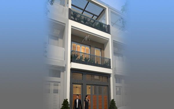 Thiết kế nhà ống 3 tầng 60m2 - hình 1
