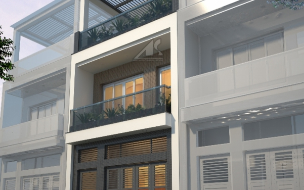 Thiết kế nhà ống 3 tầng 60m2 - hình 2