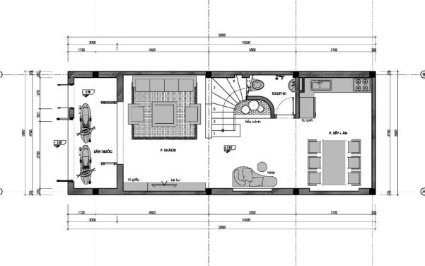Thiết kế nhà ống 3 tầng 60m2 - hình 4