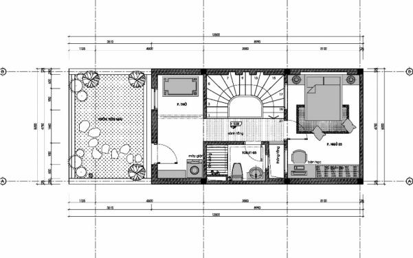 Thiết kế nhà ống 3 tầng 60m2 - hình 6