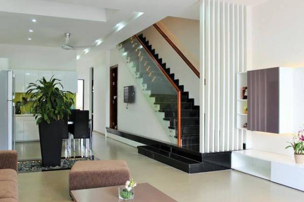 thiết kế phòng khách nhà ống 3 tầng đẹp
