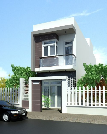 Những thiết kế nhà phố 2 tầng đẹp nhất hiện nay - Mẫu 1