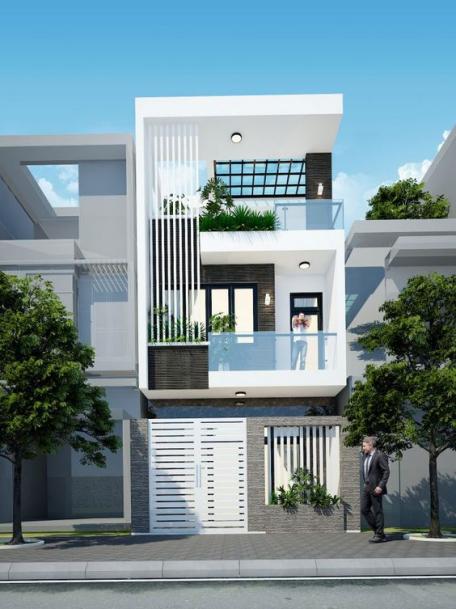 Tổng hợp 200 mẫu nhà phố 3 tầng đẹp nhất hiện nay - Hình 1