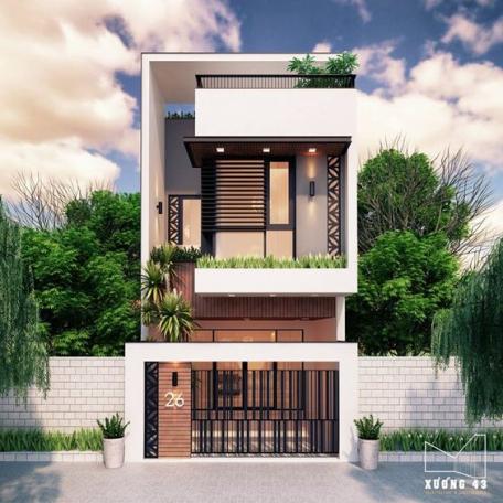 Tổng hợp 200 mẫu nhà phố 3 tầng đẹp nhất hiện nay - Hình 3