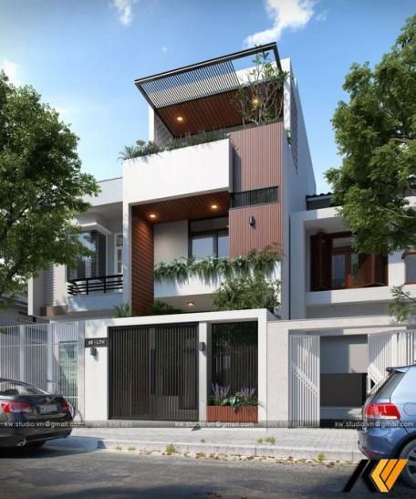 Tổng hợp 200 mẫu nhà phố 3 tầng đẹp nhất hiện nay - Hình 4