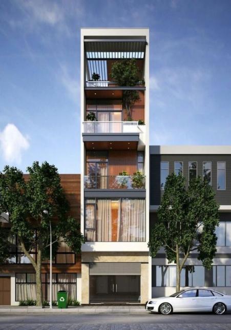 Những thiết kế nhà phố 4 tầng đẹp hiện đại - Mẫu 2