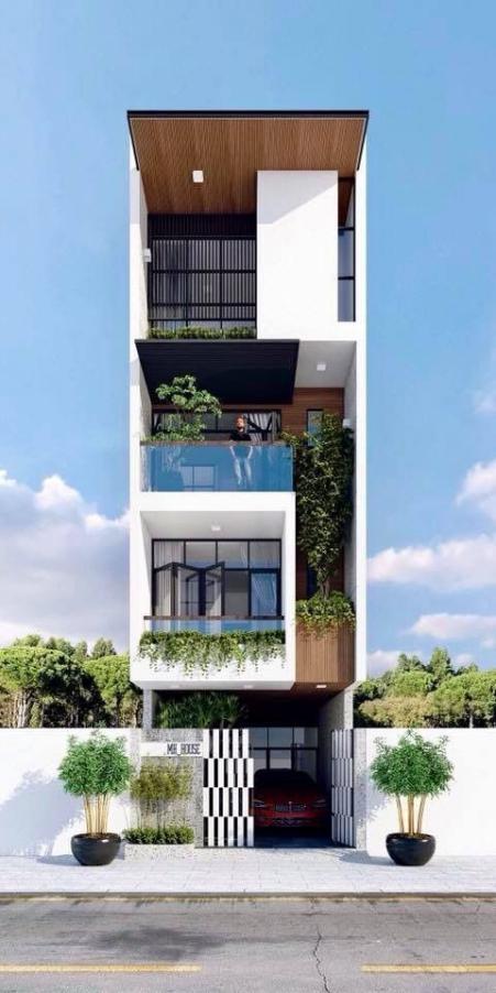 Những thiết kế nhà phố 4 tầng đẹp hiện đại - Mẫu 3