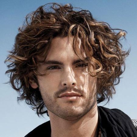 medium length curly hairstyles mens
