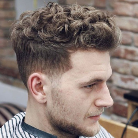short tapered hairstyles for curly hair