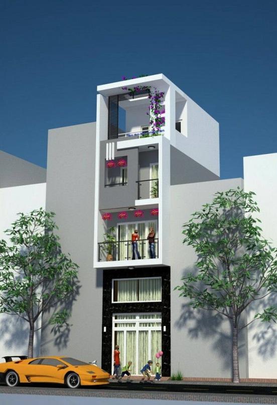 Thiết kế nhà phố nhà phố nhỏ đẹp 4m - Hình 1