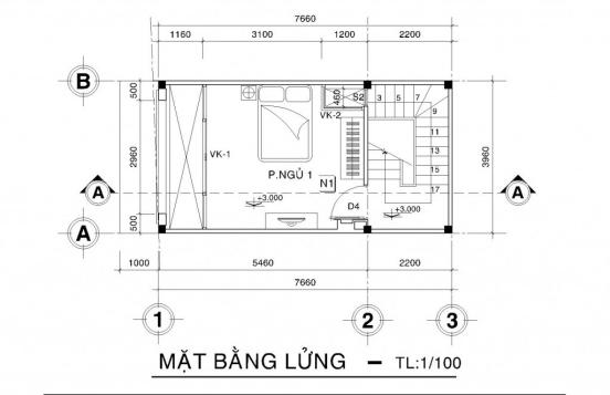 Thiết kế nhà phố nhà phố nhỏ đẹp 4m - Hình 3