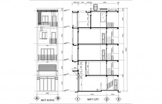 Thiết kế nhà phố nhà phố nhỏ đẹp 4m - Hình 7