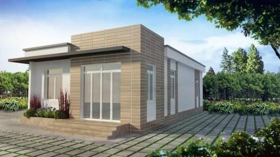 Thiết kế nhà cấp 4 giá rẻ dưới 100 triệu - Mẫu 1