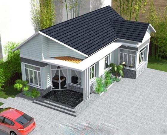 Thiết kế nhà cấp 4 giá rẻ dưới 300 triệu - Mẫu 1