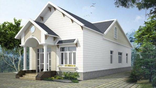 Mẫu nhà cấp 4 mái thái với 3 phòng ngủ, 1 phòng thờ 7x20m