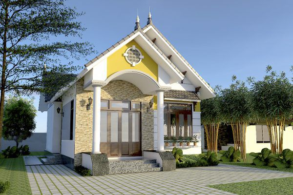 Thiết kế nhà cấp 4 ở nông thôn